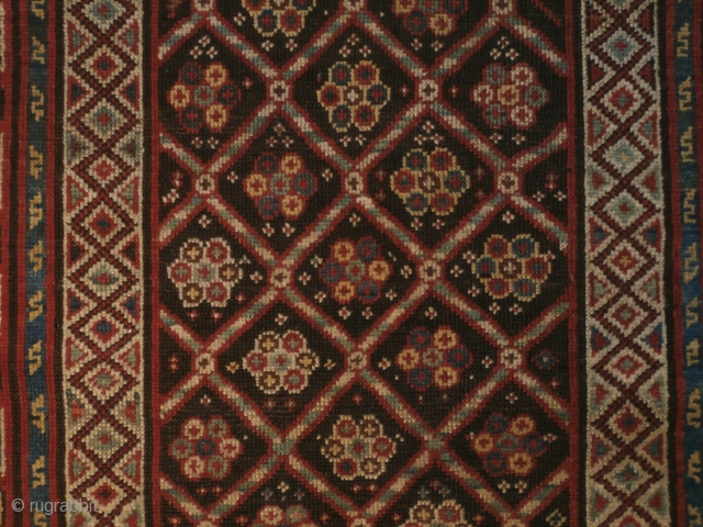 Old Gendje runner size: cm 310*98  overall good condition , hot dyes  p.cat