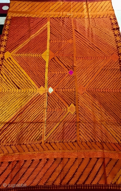 Vintage phulkari  from (east) Punjab India called as  bagh rare design.bagh is in very good condition.