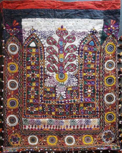 Vintage dowry bag of Rabari community from Kutch region Gujrat India the size of the Kutchi dowry bag is 29 inches X 22 inches