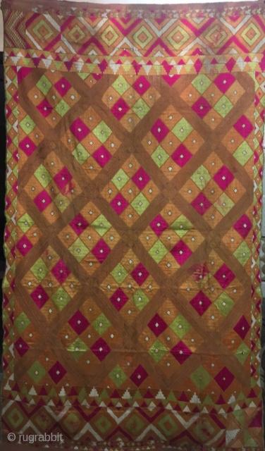 Surajmukhi vintage Phulkari Bagh  from Mansa village of Punjab state of India in good condition