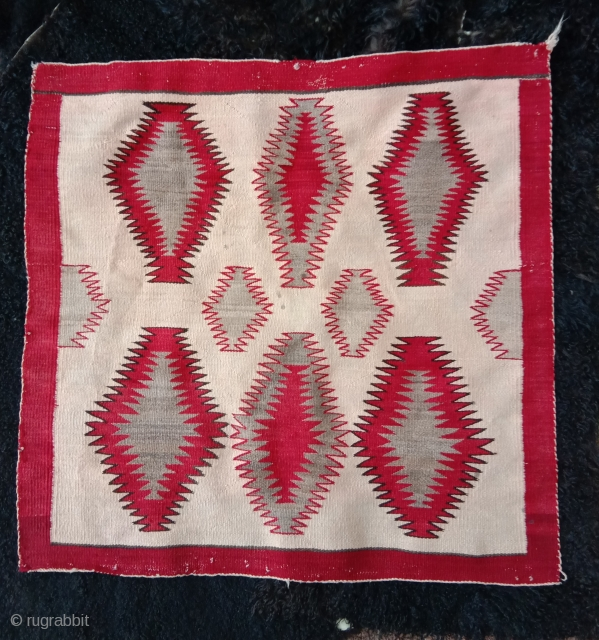very nice navajo horse blanket very fine weave first half 20th century