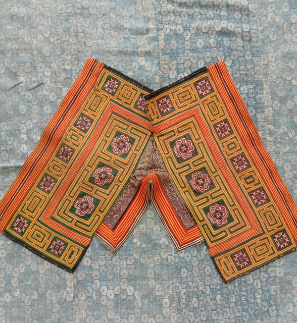 wonderful old embroidered miao collar in perfect condition