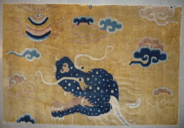a splendid chinese ningxia pillar rug fragment. please see in my listing for description.