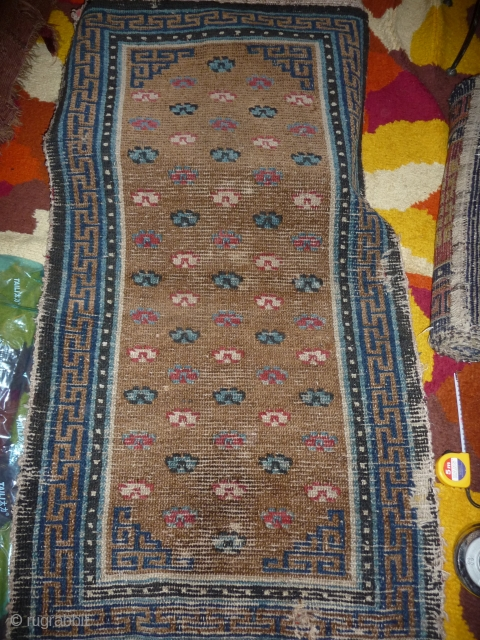 rare early tibetan rug