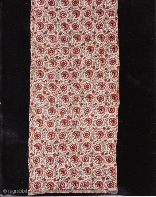 Indian Trade textiles 015, Basta, Blockprints, For the Indonesian market, plays important role as a ceremonial cloth, early 19th century, good condition. Price on request.