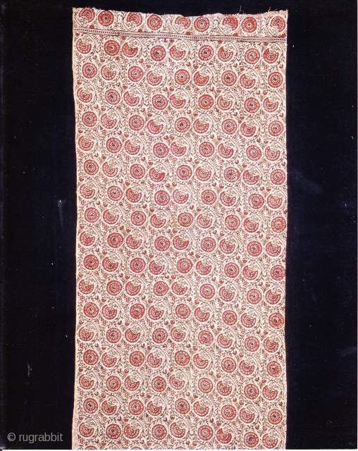 Indian Trade textiles 016, Basta, Blockprints, For the Indonesian market, plays important role as a ceremonial cloth, early 19th century, good condition. Price on request.