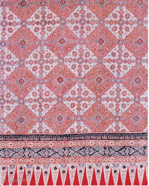 Indian Trade textiles 023, For the Indonesian market, detail shot, 18th century. Price on request.
