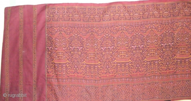 Cambodian textiles Cambodia 007 - 333cm x 85cm - 131in x 33.5in, silk Ikat , Rare cloth, beautiful color, various small wears, approx. late 19th century.