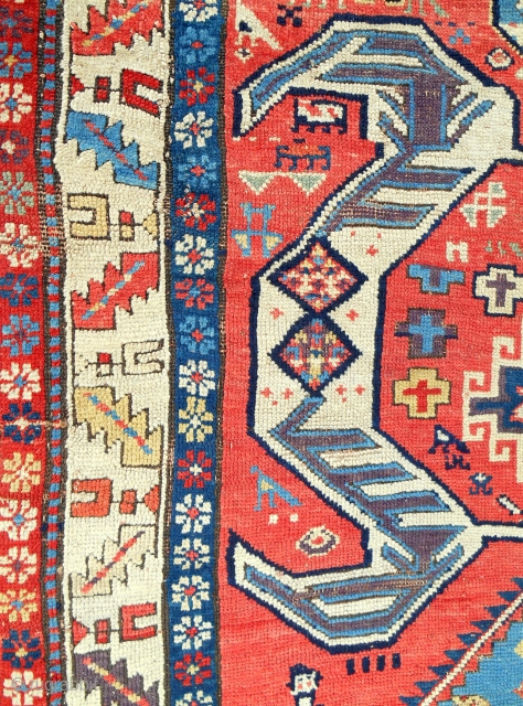 South Caucasian long rug (detail) circa 1820-40.