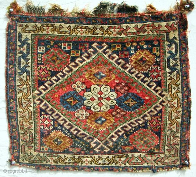 Fine Persian Qashqai bagface. C. 1880.