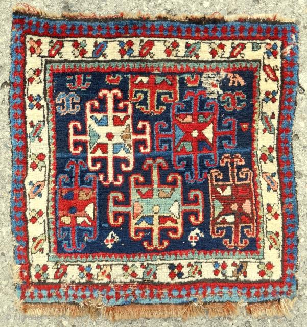 Shahsavan pile bagface. c. 1870-80. Good color.