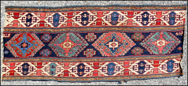 Caucasian sumak mafrash panel > c. 1850 or older > Excellent condition > Great color range & saturation.