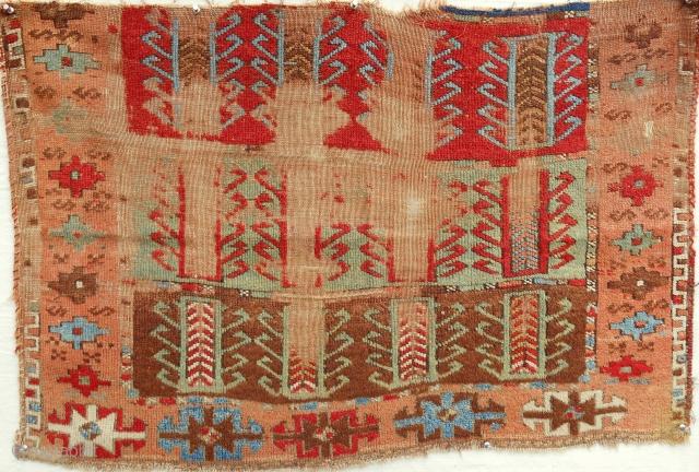 Anatolian Sivas (Sarkisla) rug fragment. 18th C.