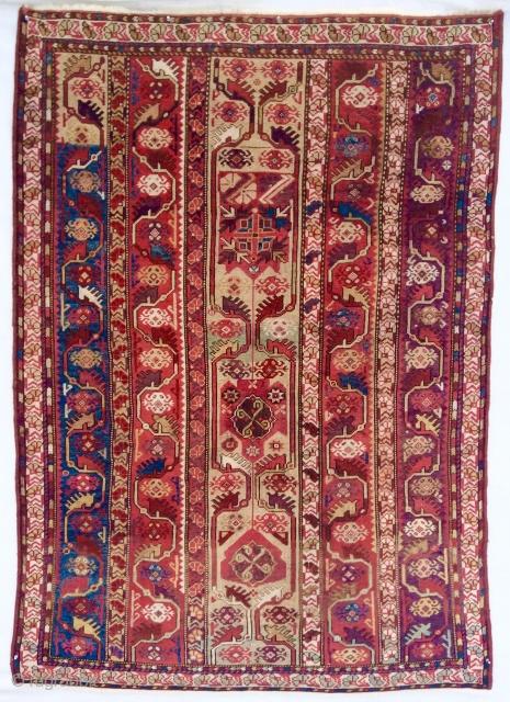 1870 Western Anatolian Melas rug. Original, very good condition.
