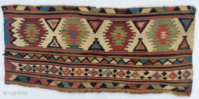 Shahsavan kilim mafrash panel ? with exceptional old pastel colors. Circa 1850-70.