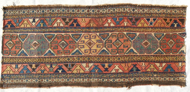 Caucasian mafrash panel. Great pastel colors. c. 1870 or earlier.