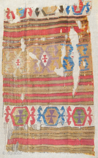 18th C. Central Anatolian kilim fragment with camel.