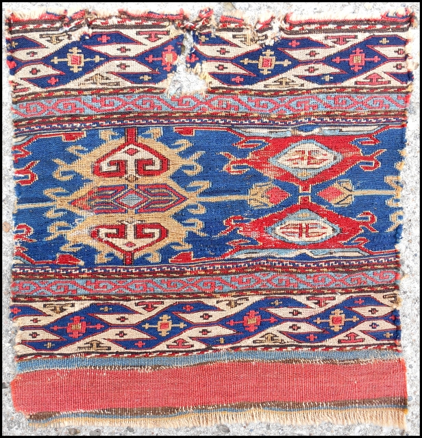 Shahsavan sumak mafrash side panel. Early 19th c.