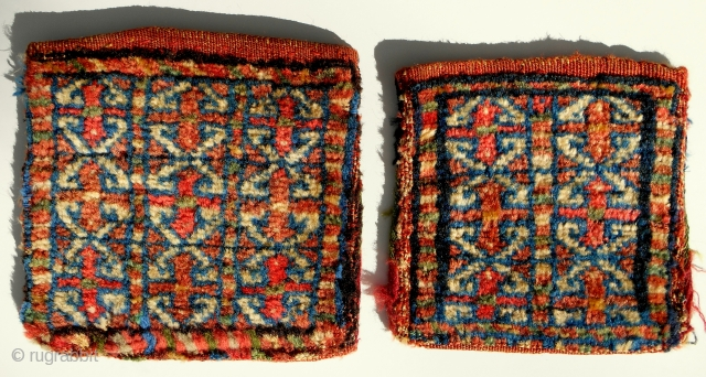 Two Persian chanteh. Complete and original with striped backs. Late 19th c.