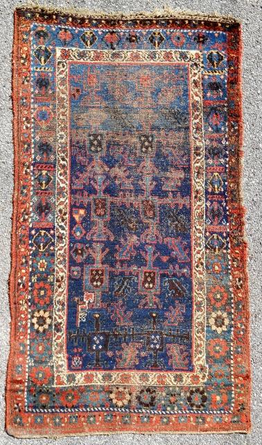 """""""Unique"""" 19th c. Kurdish rug."""