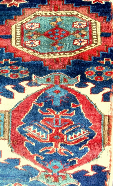 Early Northwest Persian rug fragment. C. 1800 or older.