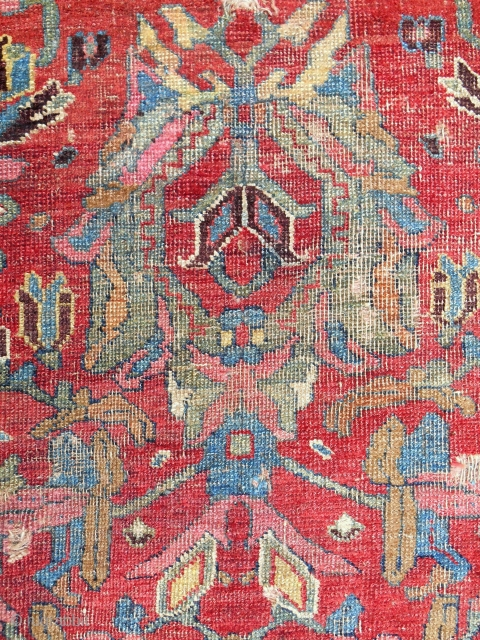 Extremely rare Persian Bijar rug dated 1820.