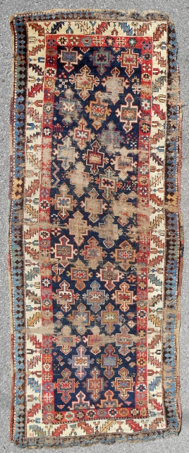 Early South Caucasian long rug. Compare with Rudnick rug (picture included) that sold for about $7500 at Grogan in Boston.