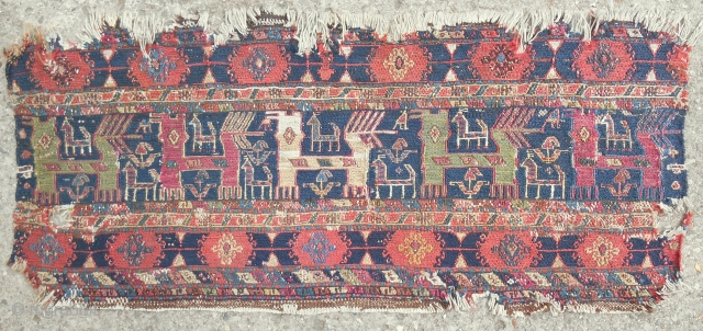 Very rare Moghan sumak mafrash panel. circa: early to mid 19th c.