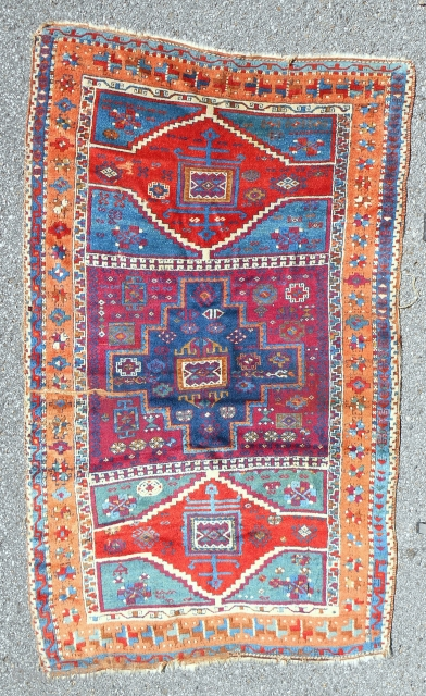 East Anatolian Kurdish rug in very good condition. Nearly full pile. Good age: 1850-70.