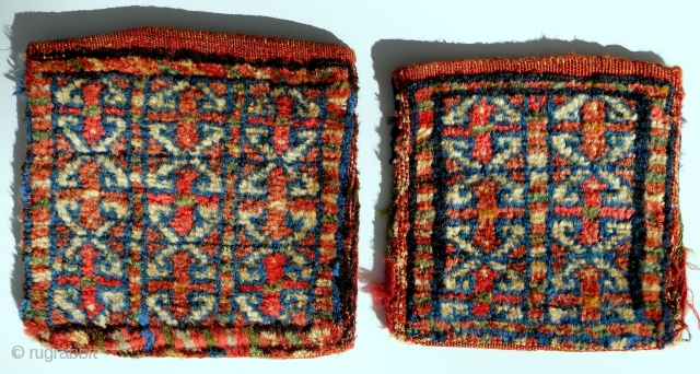 """Small and smaller: 2 Persian """"fractal"""" chanteh. Complete and original and perfect. And beautiful. Later 19th c."""