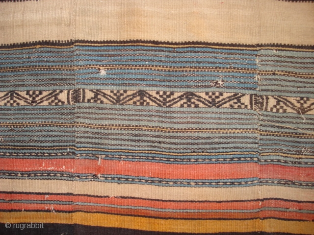 This kelim from the 2nd or 3rd quarter of the 19th century is