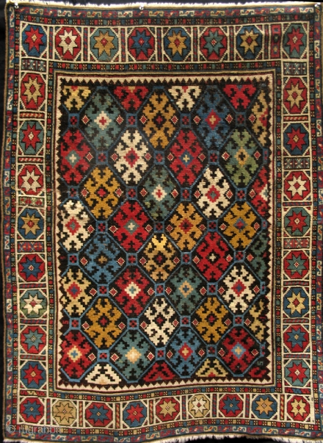 Colorful Shirvan from the 4th quarter of the 19th century.