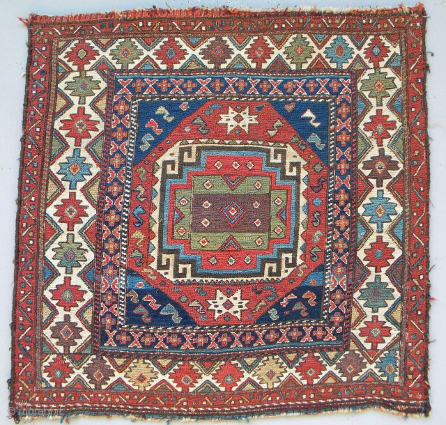Shahsavan sumak khorjin face, 60 x 60 cms, excellent natural colours and wool, no repairs, the white areas are cotton.