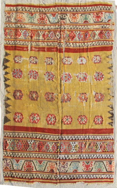 Central Anatolian kilim, c. 1700
