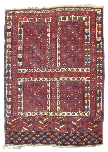 """Yomut Turkmen Ensi, 4'3"""" x 5'6""""  https://www.peterpap.com/product/yomut-ensi-6/"""