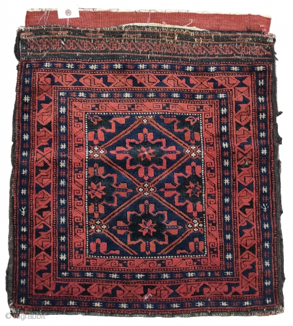 """Baluch bag with snowflake design. 1'11""""x2'2""""  https://www.peterpap.com/product/baluch-bag-6/"""