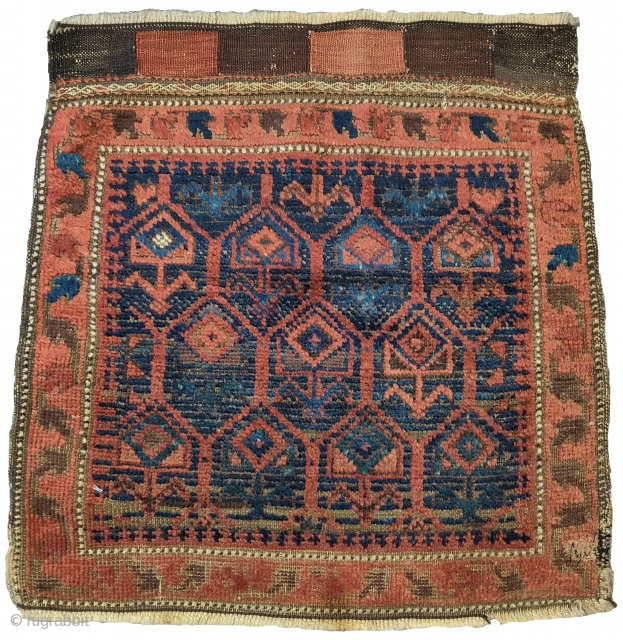 "Baluch bagface, Western Afghanistan, nice color and wool, 1'9""x1'11"" 