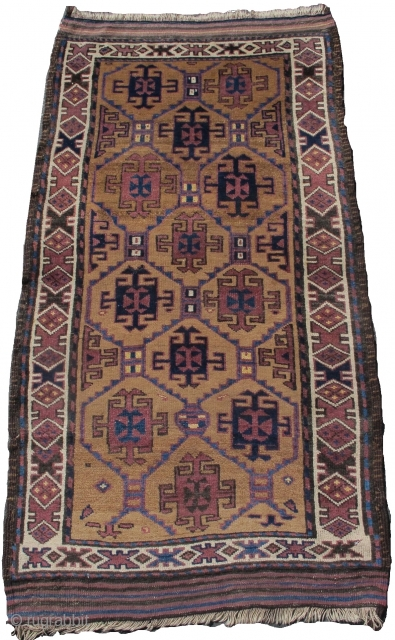 "camel ground Baluch rug, 2'9""x5'0""