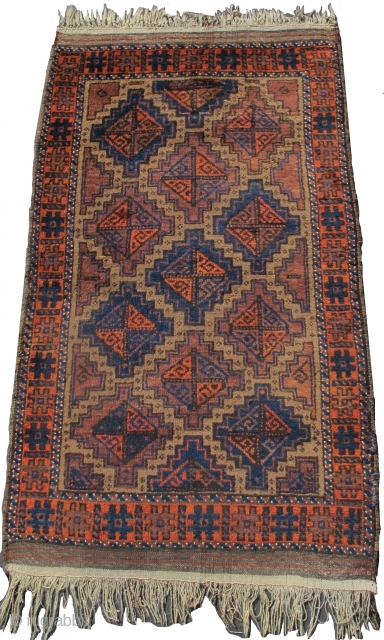 "Baluch rug, camel ground, probably Arab group, 2'10""x5'0""