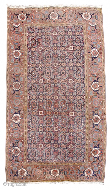 "Khorassan Carpet, NE  Persian jufti knotted. Beginning of the 19th cen. or perhaps a little earlier. size =5'9""x11'3"" . INV#S3996