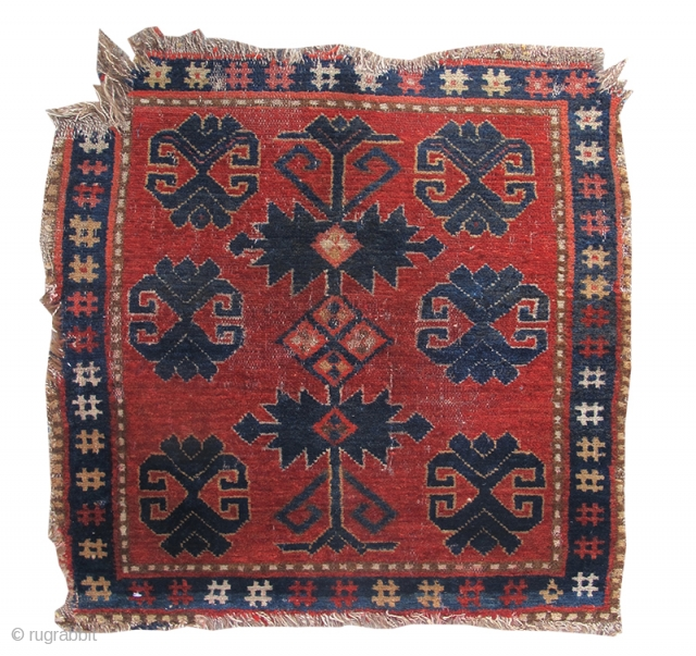 """Kyrgyz bagface Late 19th C, size is 2'2""""x2'0"""", inv#16858 http://www.peterpap.com/rugDetail.cfm?rugID=16858"""