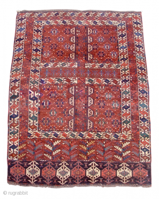 """Yomut Ensi, mid 19th century or earlier size = 4'2"""" x 5'6"""" Item # 15051"""
