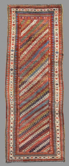 Northwest Persian runner with fantastic color.