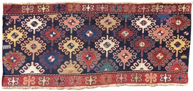 "Shahsevan sumak mafrash panel, 3'3""x1'5""  http://www.peterpap.com/rugDetail.cfm?rugID=19081"