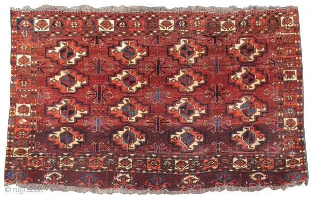 Arabachi group pieces have a special place within the history of Turkmen weaving. Recognizable by their distinctive color pallet and construction, Arabachis often retain features of older more archaic drawing. This Arabachi  ...