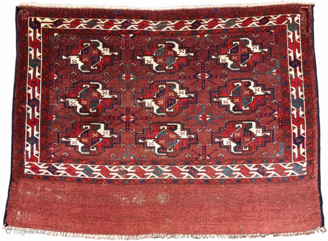 """Yomut chuval, Mid 19th C. size= 3'6""""x2'7"""" Inv#19097   http://www.peterpap.com/rugDetail.cfm?rugID=19097"""