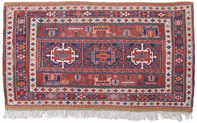 """Bakhtiari sumak panel   2'0"""" x 3'5"""", rug# 19296"""