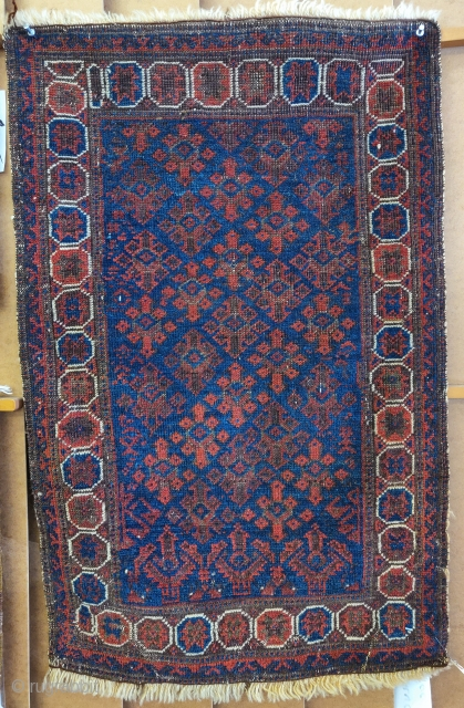 Baluch balisht with polychromatic blue, western Afghanistan, late 19th century