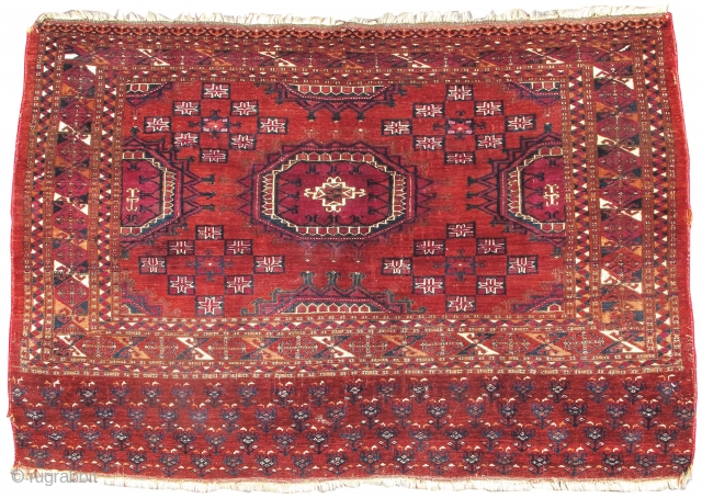 """Saryk chuval, great condition but selvedges not original,   Rug ID#19411  4'3""""x3'1"""""""