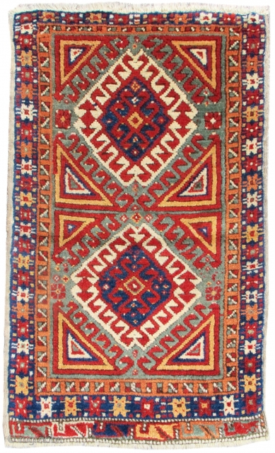 "Konya Yastik, Very good condition. minor reweaving. size= 2'0"" x 3'4"" Inv# 17505